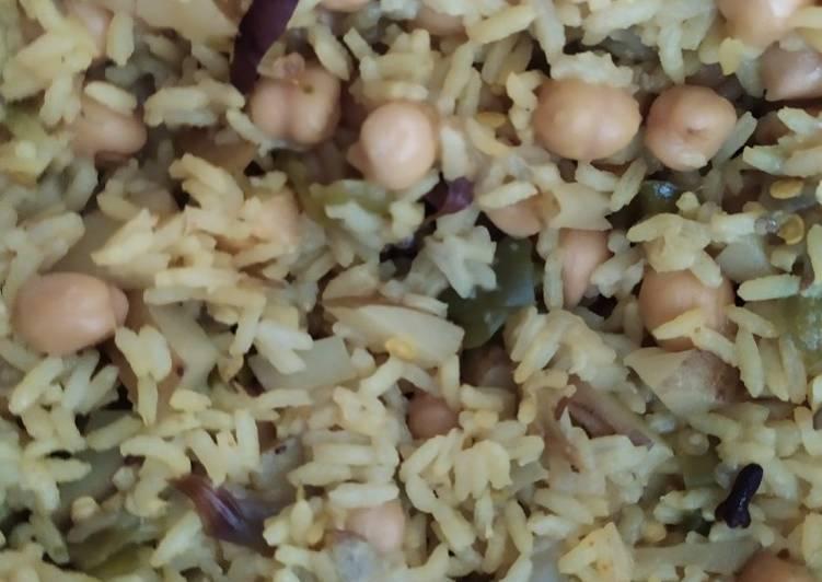 Steps to Prepare Homemade Chana pulao- lunch box recipe