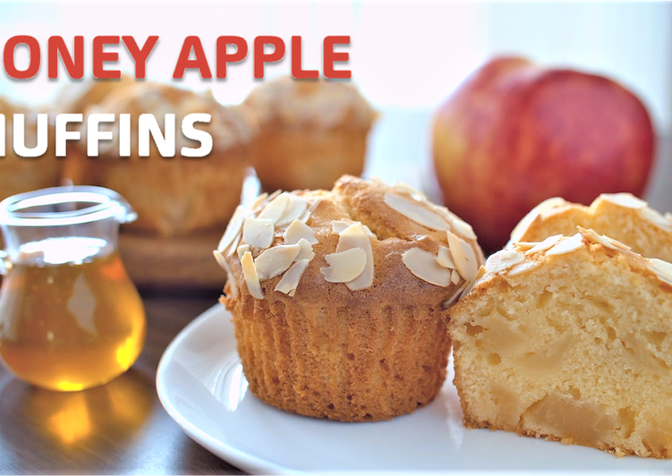 How to Prepare Perfect Honey and Apple Muffins 【Recipe Video】