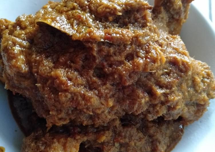 Tutorial memasak Rendang Ayam Special - Resep enak,mudah,simpel komplit