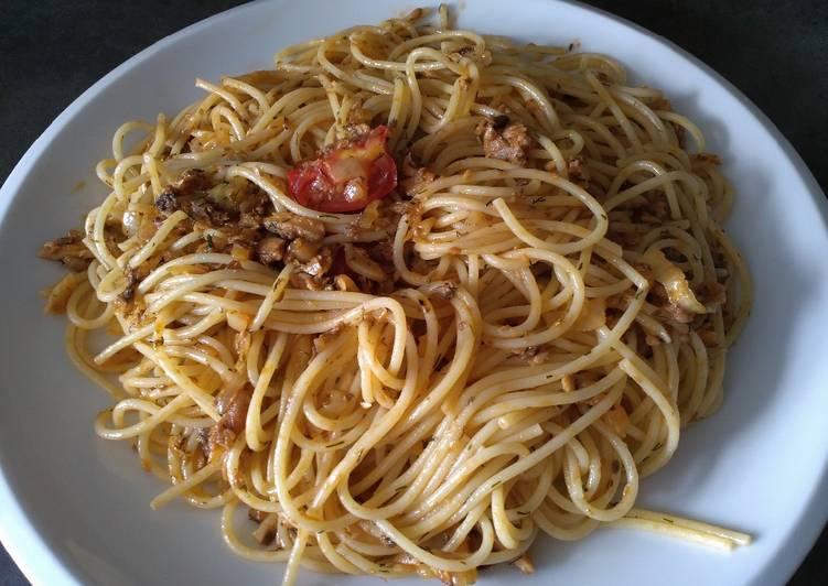 Steps to Make Award-winning Spaghetti with Sardine and Dill