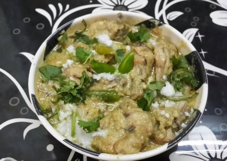 Hyderabadi White Chicken Korma