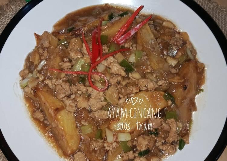 Resep Ayam Cincang Kentang Saos Tiram Yang Simple Bikin Nagih
