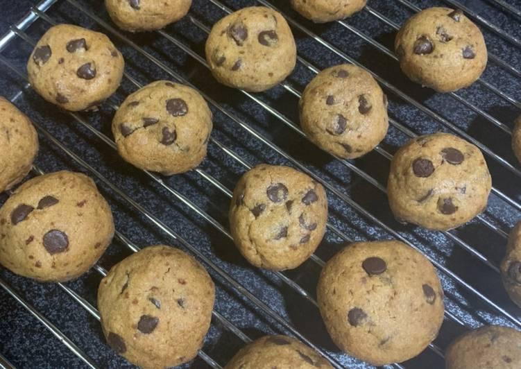 Crunchy Choco Cips Cookies Renyah tanpa baking powder🍪