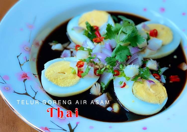 Telur Rebus Goreng Air Asam  (Thai Style) - resepipouler.com