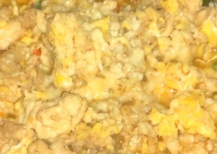 Ayam cincang gila + mozarela