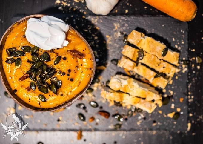 Rezept Um Jamie Oliver Saskias Kürbis-Suppe- Vegan zuzubereiten