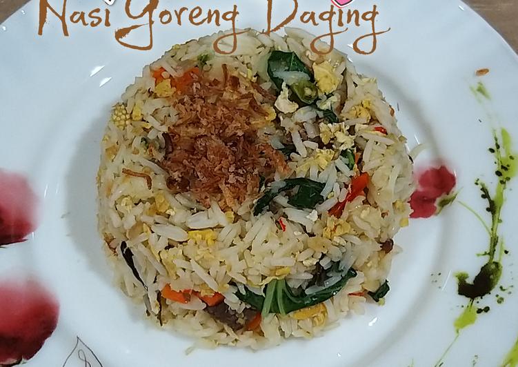 Resepi:  Nasi Goreng Daging  Lazat