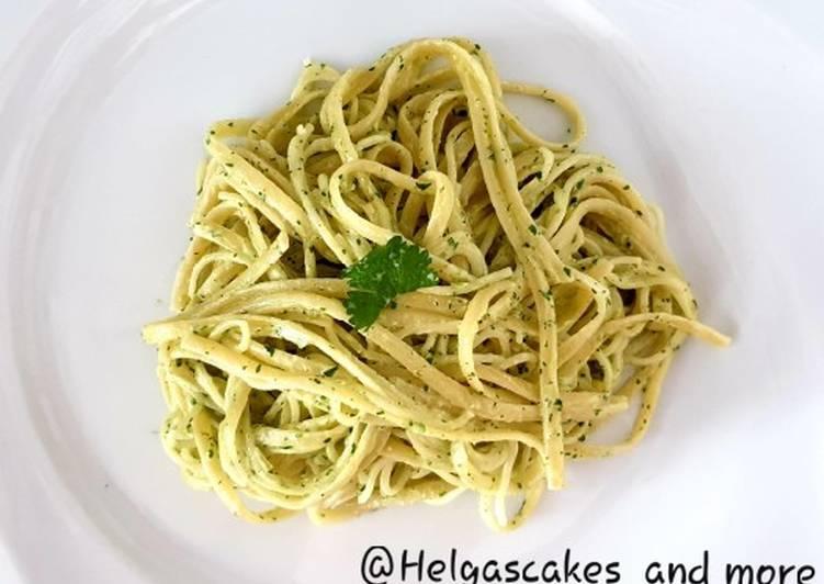 Spaghetti mit Koriandercreme