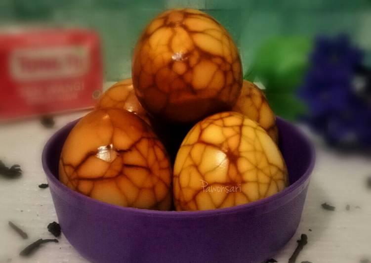Pindang Telur Retak Seribu aka Telur Marmer