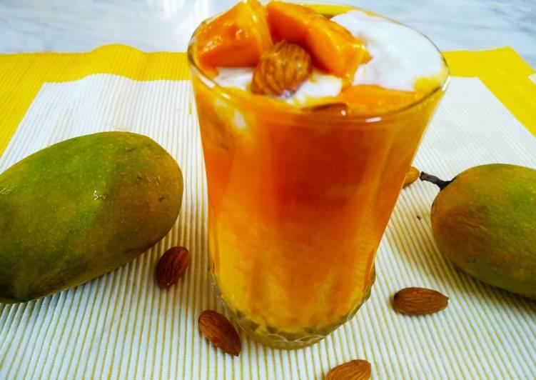 5 Minute Easiest Way to Make Award Winning Mango malai lassi