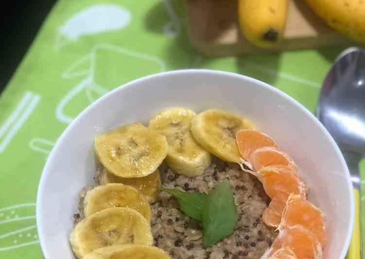 Bubur oat quinoa