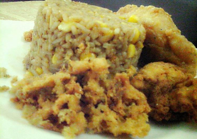 Ayam Goreng Kremes&Nasi Jagung