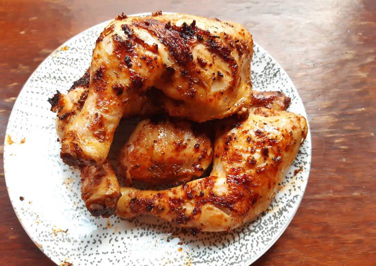 Recette Savoureux Cuisses de poulet marinées au Paprika