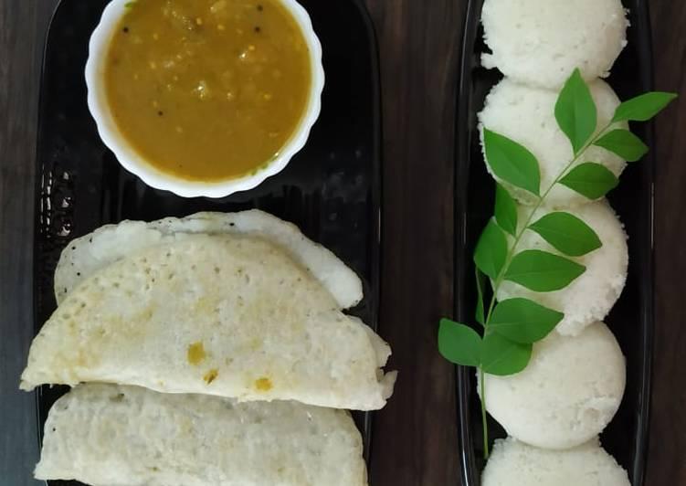 South Indian Platter: Sambar Dosa Idli