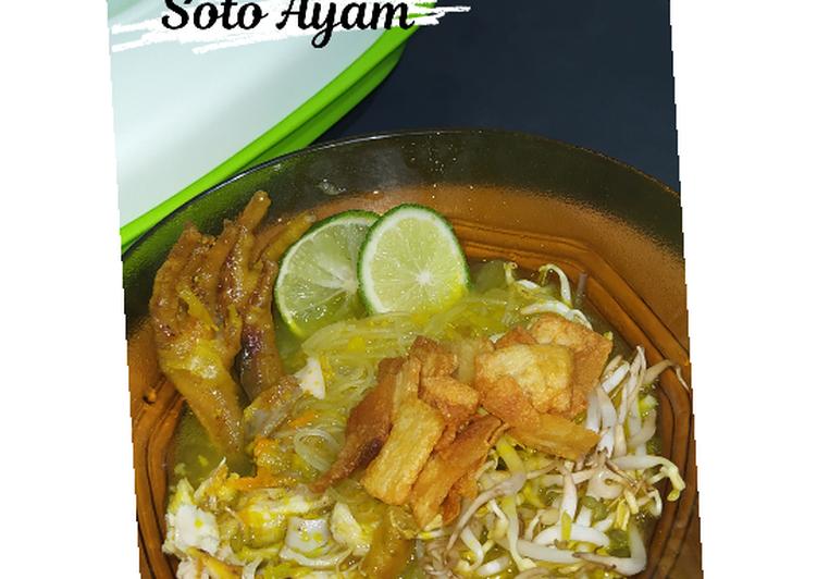 Soto Ayam/Ceker plus Kentang Crispy