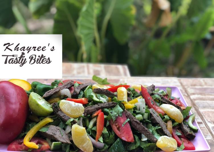 Thai beef and herbs salad