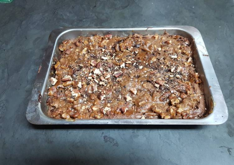 Gluten free Pecan Pie Brownie