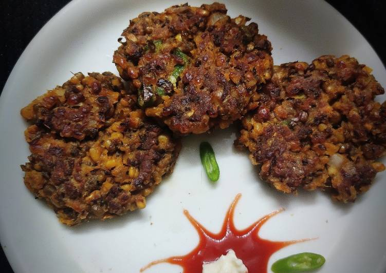 Recipe of Any-night-of-the-week Green Moong Soya Kebabs