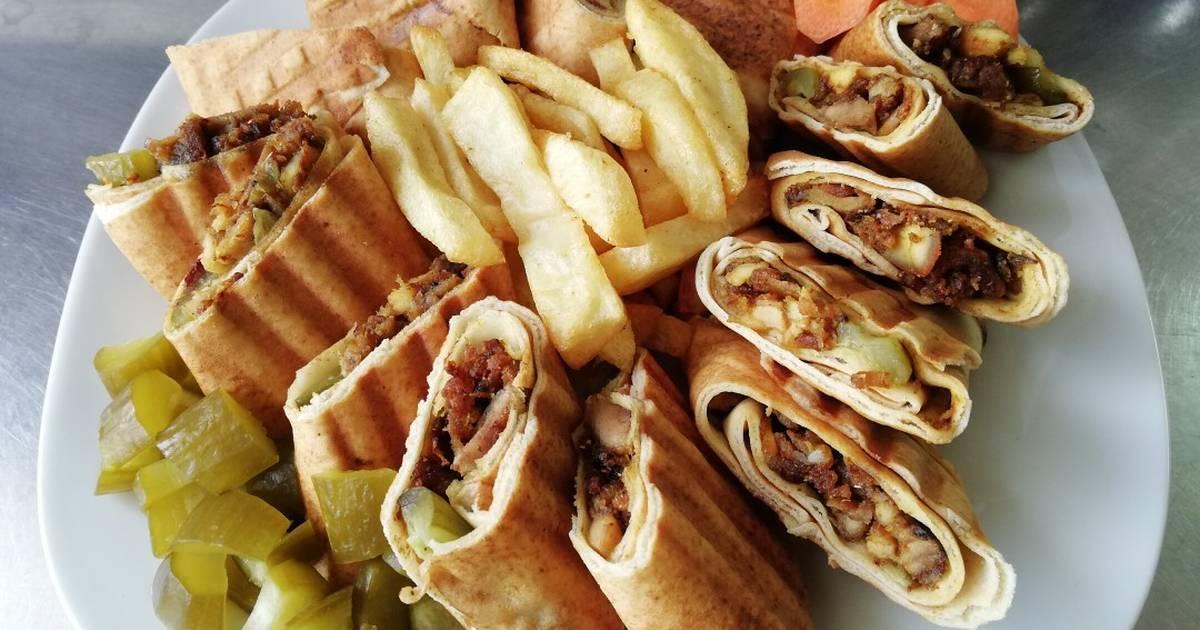 طريقة عمل شاورما دجاج صلصة لبنانية 29 وصفة شاورما دجاج صلصة لبنانية سهلة وسريعة كوكباد