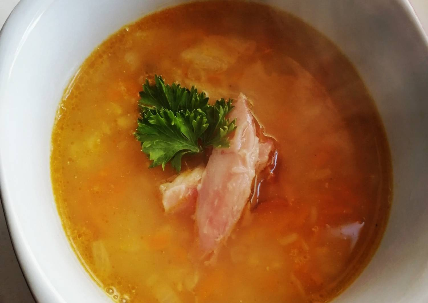 суп с копченой курицей картинки установлен