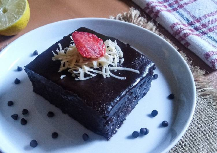 Chocolate Moist Cake 2 Telur No Mixer No Oven