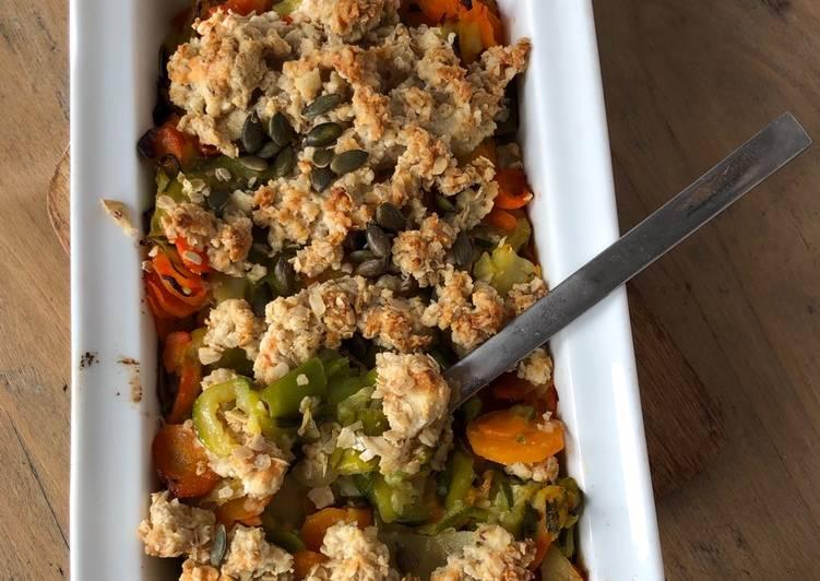 Crumble aux légumes d'hiver