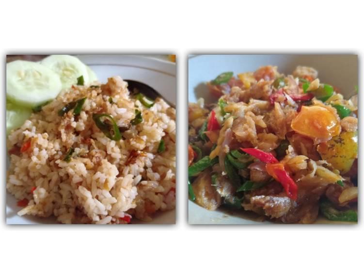 1 Masakan 2 Menu : Oseng2 ikan asin & Nasgor ikan asin