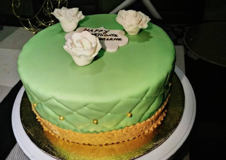 Fondant lemon cake#fondant challenge