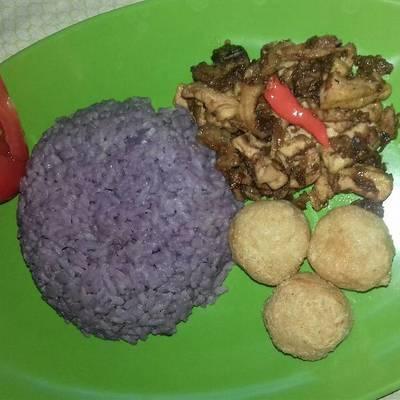 Resep Nasi Ungu Tanpa Santan Oleh Cicik Ary Cookpad