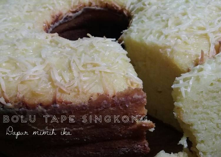Bolu tape singkong.. (with baking pan)
