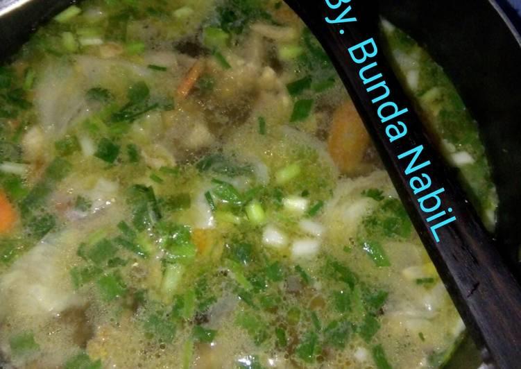 6.Sup ayam no ribet,smua orng bisa masak😁