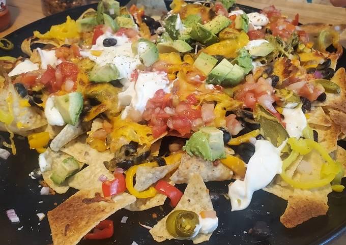 Loaded vegetarian nachos