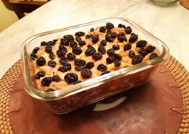 Pudding Roti Kismis