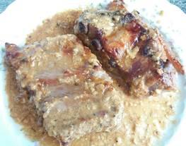 Costillas de cerdo a la mostaza y miel