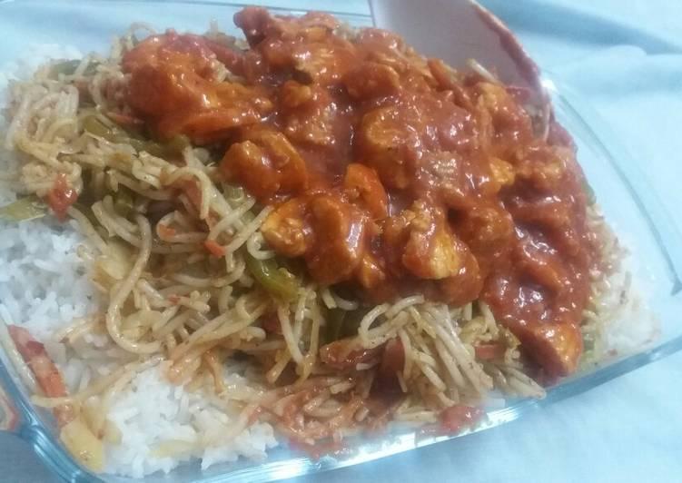 Recipe of Any-night-of-the-week Singaporean rice