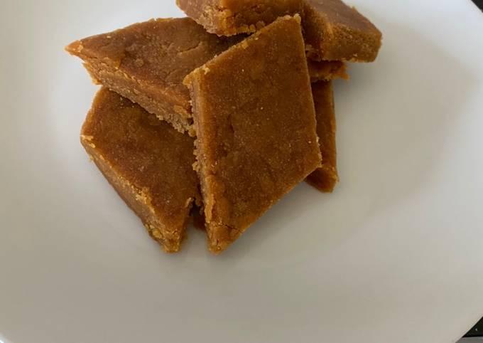 Besen Barfi (Indian desert)   Perfect with tea