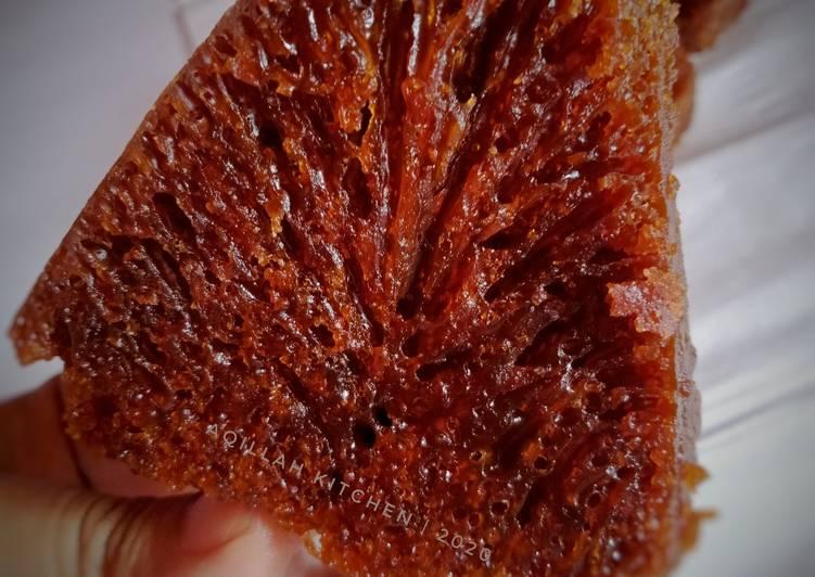 resep menyajikan Bolu karamel Sarang Semut - Sajian Dapur Bunda