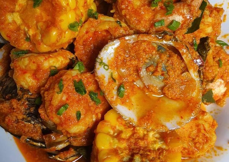 Seafood saos padang(udang & kerang)