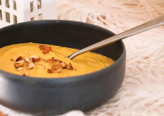 Velouté céleri rave, panais, carottes au lait de coco