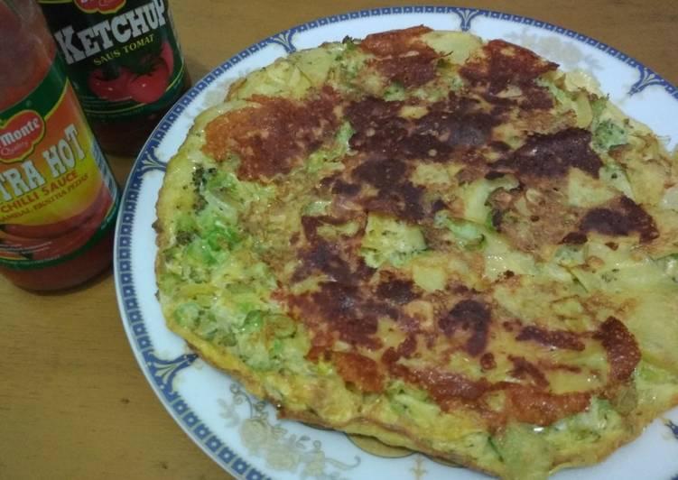 Omelet kentang sayur (fritatta)