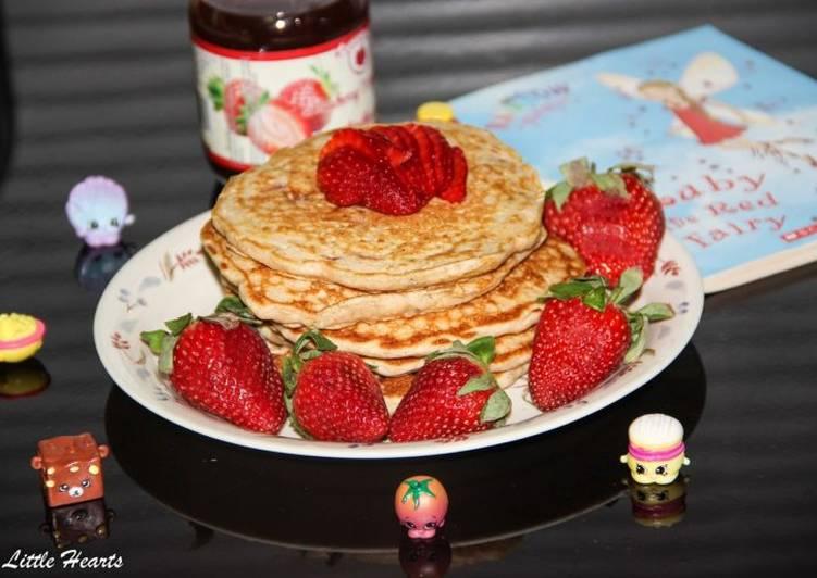 Very Berry Strawberry Shortcake Pancakes recipe main photo