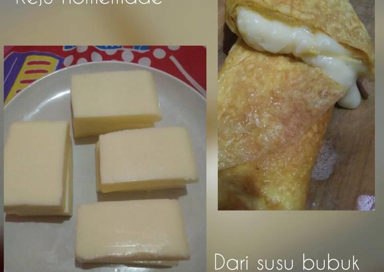 Keju homemade dari susu bubuk
