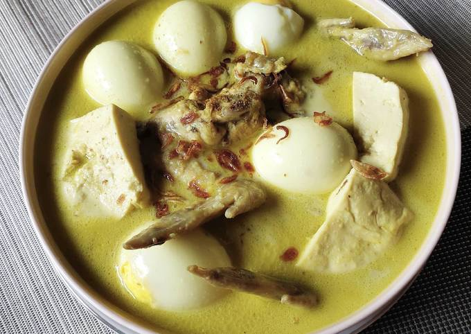 Opor Ayam Tanpa Santan (Fibre Creme)