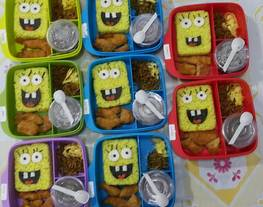 "Bekal Anak Bento ""Naskun Spongebob"" ??"