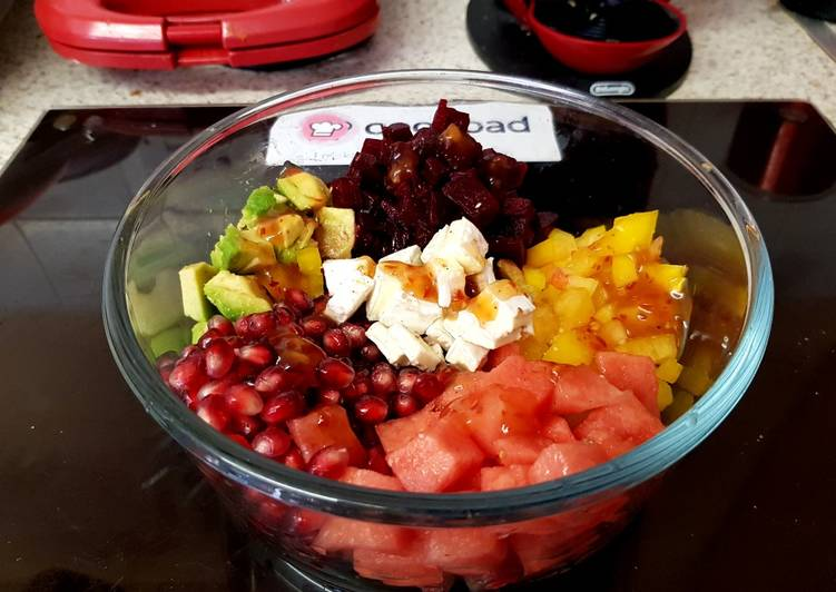 How to Make Favorite My Fruity mixed Salad 😘