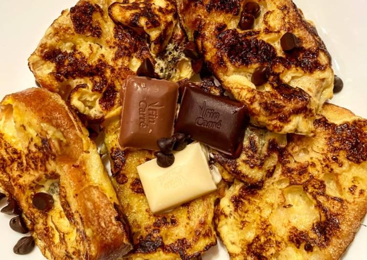 Pain perdu aux 3 chocolats
