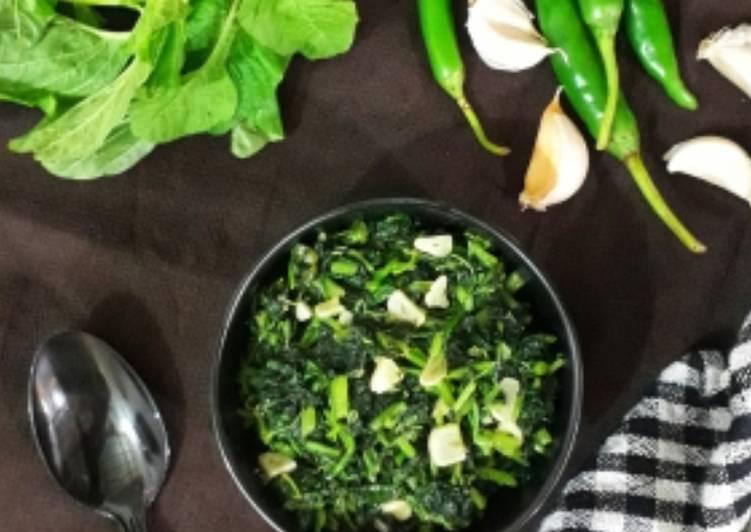 Amaranth Leaves Stir Fry / Greens Stir Fry