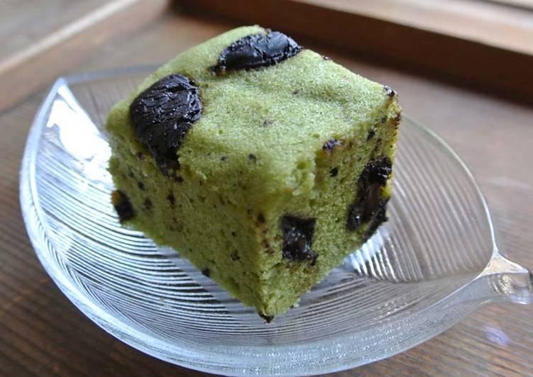 "Un Gâteau ""Ukishima"" (Wagashi) Chocolat & Matcha"