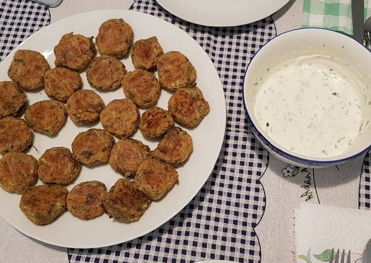 Easiest Way to Cook Yummy Aubergine balls aka Melitzanokeftedes in the oven