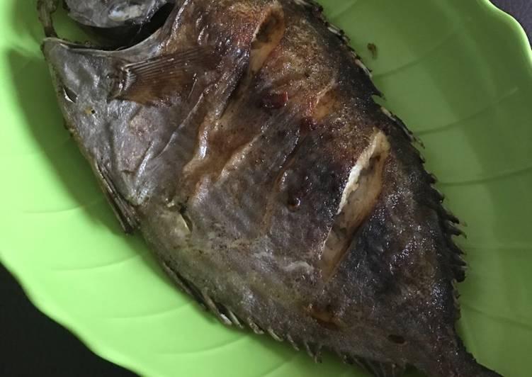 Ikan Baronang Goreng bumbu perut (nomsg)